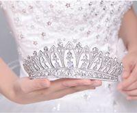 tipos tiaras coronas al por mayor-Aleación al por mayor de la corona de la novia de la boda accesorios para el cabello boda tipo Headdres joyería Rhinestone novia Tiara J 190430