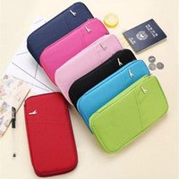 Wholesale documents cover for sale - Group buy Travel Documents Bag Air Tickets Protective Case ID Credit Handbag Male And Female Wallet Red Blue Durable se C1
