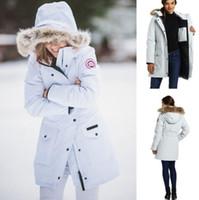 водонепроницаемые лыжные куртки оптовых-Канада открытый спорт качество мода женщин спорта на открытом воздухе с капюшоном куртка водонепроницаемый ветрозащитный лыжный альпинизм одежда Бесплатная доставка