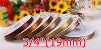 односторонняя атласная лента оптовых-Бесплатная доставка 19 мм атласная лента с одной стороны 20 мм атласные ленты для свадьбы, конфеты, шоколадные украшения