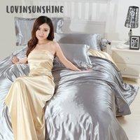 ingrosso seta seta in seta-LOVINSUNSHINE Consolatore letto di seta Bedding Home Textile copripiumino lusso AB # 103