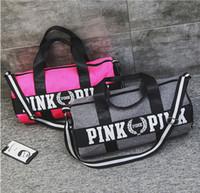 Wholesale hot pink hiking bag for sale - Group buy Duffel Bag Big Large Storage Men Women Travel Bag Hangbag Waterproof Gym Pink bag Luggage Bags Fast Shipping Hot New