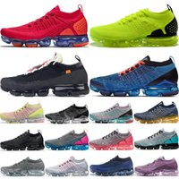 Wholesale womens run shoes black for sale - Group buy 2018 Chaussures Moc Vapors Knit Mens Running Shoes Triple Black White Run Womens Sport Sneaker Cushion Trainer Zapatos