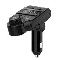 bluetooth auto lcd оптовых-Беспроводная связь Bluetooth Автомобильный комплект FM-передатчик Радио-плеер Громкая связь Авто Стерео MP3 Музыкальный плеер Зарядное устройство для мобильных телефонов