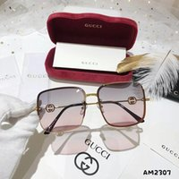 Wholesale fashionable sunglasses resale online - Summer Fashionable Womens Designer Sunglasses Luxury Sunglasses Adumbral Beach Google Glasses Style G2307 High Quality with Red Box