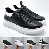 Wholesale casual red online - Luxury Designer Men Women Sneakers Ladies girls Leather Flange Wrap Casual Shoes Classic Balck Pure White men women shoes