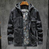 dış mekan marka kot toptan satış-Erkekler Marka Sonbahar Kış Ceket Kapşonlu Cashere Palto Dış Giyim Denim Jeans Motosiklet Biker Ceketler Açık Giysiler