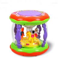 bebek yendi toptan satış-Çocuk El Yendi Tef Tekerlemeler Müzik Davul Bebek Çok Fonksiyonlu Atlıkarınca Yendi Davul Erken Eğitim Atma Oyuncaklar 14ll N1