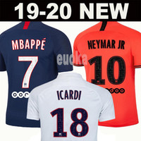 Wholesale kits for sale - Group buy Maillots de football kit PSG soccer jersey Paris MBAPPE ICARDI MARQUINHOS jersey camisetas de futbol shirt men kids sets