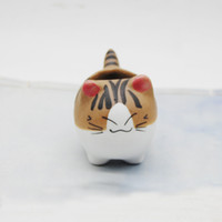 küçük hayvan dekorasyonları toptan satış-Küçük Bitkiler Yetiştiricilerinin Seramik Hayvanlar Kedi Şekli Saksı Fit Ofis Dekorasyon Mini Tencere Güzel 2 9jc E1