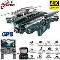 Wholesale rtf channel helicopter resale online - Drone k HD Camera GPS Drone G WiFi FPV P No Signal Return RC Helicopter Flight Minutes Drone with Camera