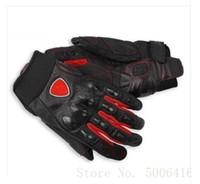 deri motokros eldivenleri toptan satış-moto kir bisiklet Deri Eldiven luvas Ducati Emniyet Düşme Motokros Bisiklet Eldiven İçin Yaz Akış Motosiklet yarışı Eldiven