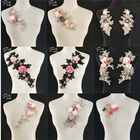 кружевная отделка для ремесел оптовых-Hot sale Lace Collar Fabric Trim DIY Embroidery Lace Fabric Neckline Applique Sewing Craft trim Bridal Wedding dress Accessories