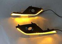 luzes led mazda cx venda por atacado-1 par levou drl luz diurna para mazda cx-3 cx3 2016 2017 com tampa de luz de nevoeiro amarelo sinal de volta