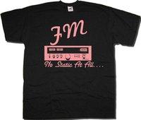 fã de jazz venda por atacado-FM Nenhuma Estática Em Todo O T Shirt Inspirado Por Steely Dan Clássico Jazz Rock Fusão Engraçado 100% Algodão Camiseta Calças de Fan T Shirt