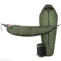 sac de couchage ultraléger le plus chaud achat en gros de-Accessoires de randonnée en camping en plein air hamac ultra-léger Sac de couchage vert Momie sacs de couchage coton creux enveloppe chaude paresseux