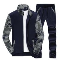 nouvelle ligne sportswear achat en gros de-Bolubao Nouveau Survêtement Hommes Ensemble Printemps En Molleton Doublé Survêtement Survêtements Hommes Sportswear Vestes + Pantalon Mâle Sporting Suit Sweat