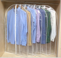 Wholesale suits bags cover resale online - Clothing Clear Dust Covers Home Storage Protect Cover Travel Bag For Garment Suit Dress Clothes Coat Display