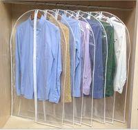 çantalara uygun takım toptan satış-Giyim Temizle Toz Ev Depolama Kapakları Koruyun Kapak Seyahat Çantası Konfeksiyon Suit Elbise Elbise Ceket Için Ekran