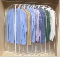 almacenamiento de abrigo al por mayor-Ropa Cubierta transparente para el polvo Cubiertas de almacenamiento para el hogar Cubierta de viaje Bolsa para ropa Traje Vestido Ropa Escudo Pantalla
