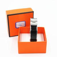Wholesale cuff bracelets resale online - 18mm Luxury Zinc Alloy Cuff Bracelets Bangles Wristband Enamel Bangle Silver H Design Classic Original Bracelets LP002