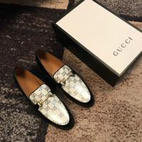 berühmte casual schuhe marken großhandel-Original berühmte Marke hochwertige Mode Herren Luxus Schuhe Mode wilde Freizeitschuhe Bankett Gelegenheit Herren Lederschuhe