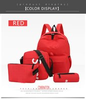 einfache mädchen rucksäcke schwarz großhandel-Frauen und Frauen Rucksack weibliche koreanische Version des neuen College Wind Rucksack Campus Freizeit wild High School Student Tasche