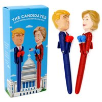 Wholesale talking pen for sale - Group buy Donald Trump Talking Sound Pen Funny Gag Gift Make America Great Again You Are Fired Intelligent Toy Boxing Decompression Pen AAA1505