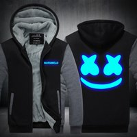Wholesale sweater men cat online – oversize DJ marshmello Skrillex Sweater Weird cat thickening Printing Leisure Time Hoodie Jackets Men And Women home clothing zdE1