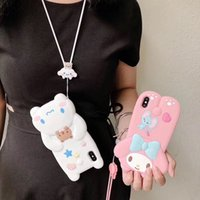Wholesale iphone cute doll case online – custom Hot Lovely D lanyard Cute doll Melody Cinnamoroll soft silicone phone case for iphone X XR XS MAX plus dog cover coque