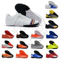 zapatillas de fútbol de interior blanco cr7 al por mayor-Mercurial Superfly VI Elite CR7 IC TF Botas de fútbol para interior Neymar 2019 Zapatillas de diseñador para hombre Botas de fútbol de arco iris blanco Zapatos deportivos