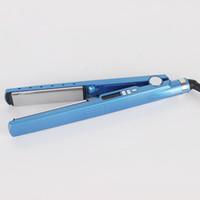 varitas nano al por mayor-Alta calidad Titanium PRO 450F 1 1/4 placa Enderezadora del pelo de titanio Enderezar los hierros Plancha rizador de pelo