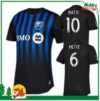 монтреаль черный трикотаж оптовых-2019 MLS Montreal Impact Home Black футболка Джерси 2019 Montreal Impact футболка с коротким рукавом черная футбольная форма