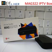 receptor de internet usb venda por atacado-Novo MAG 322 Linux IPTV Set Top Box Multimídia Jogador Internet TV IP Receptor de suporte HEVC H.265 HDMI XstreamTec USB WLAN WiFi