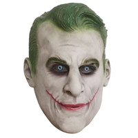 Wholesale full face decorative masks for sale - Group buy New Green Hair Latex Clown Mask Halloween Headset Mask Halloween Decorative Toys masquerade Cosplay mardi gras family