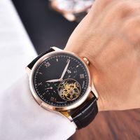 очень часы оптовых-Автоматический КОЖАНЫЙ РЕМЕНЬ Очень хороший 316L 42MM CASE модные мужские часы оптом luxury rand новые мужские часы из нержавеющей стали
