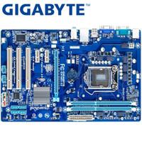 usar placa base al por mayor-GIGABYTE GA-H61-S3 Desktop Motherboard H61 Socket LGA 1155 i3 i5 i7 DDR3 16G ATX Original H61-S3 Usado
