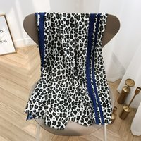 ingrosso sciarpa di stampa del leopardo blu-KYQIAO echarpe femme donne inverno leopardo sciarpa femminile autunno stile Spagna chic design lungo blu leopardo stampa sciarpa silenziatore