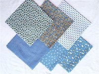 ingrosso tessuto cotone modello diy-6Pcs 50cm * 50cm Fiore Dot Star Pattern Tessuto di cotone Forniture domestiche per DIY Patchwork Quilting Doll Sewing
