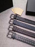 ingrosso puro modelli caldi-Modelli unisex. Cintura classica di vendita calda. Cintura firmata. Business casual stile low-key. Pura pelle intrecciata a mano. Spedizione gratuita in tutto il mondo.