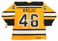 jersey de invierno bruins al por mayor-Custom Mens DAVID KREJCI Boston Bruins 2010 CCM Jerseys Vintage
