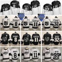ingrosso hockey su re-2020 Stadio Serie Los Angeles Kings Jersey 8 Drew Doughty 11 Anze Kopitar 32 Jonathan Quick Wayne Gretzky Bianco Nero Hockey Uomini Donne Kid