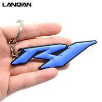 ingrosso anello chiave del motociclo 3d-Per Yamaha YZF R1 Accessori opzionali 3D in gomma morbida motocicletta portachiavi moto Portachiavi Moto chiave portachiavi a catena