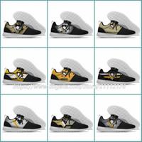 zapatos para correr ligeros para mujer al por mayor-36-45 Diseñador para mujer de los hombres 50.o Pittsburgh Penguins Lundon Olympic Mesh ligero Entrenador Nacionales Deportes Zapatos para correr Zapatillas de deporte al aire libre