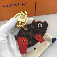 свинья свинья оптовых-Оригинальная коробка роскошный брелок дизайнер брелок кошелек кулон сумка свинья дизайн кукла автомобиль цепи мода высокое качество