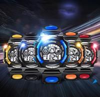 цифровые часы для дайвинга оптовых-Мальчики девочки спортивные часы военные часы мода наручные часы погружение мужской спорт светодиодные цифровые часы водонепроницаемый Relogio Masculino