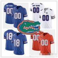 maillots de football florida gators achat en gros de-Personnalisé Florida Gators 2018 New College Football royal bleu orange blanc Cousu N'importe quel Nom Numéro # 13 Francs 81 Aaron Hernandez Maillots S-3XL
