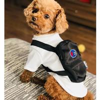 roupas bonitas para cães pequenos venda por atacado-INS Bonito Pet Vestuário Tide Brand Pequena Teddy Puppy Schnauzer Vestuário Outono Inverno Outwears Com Mochilas Cão Gato Pet Roupas de Aquecimento