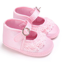 Wholesale baby boys pre walker shoes resale online - 2017 Summer Baby Shoes Toddler Girls Lace Cute Print Pre walker Soft Sole Anti Slip First Walker For to Months