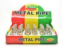 cıvata borusu toptan satış-Toptan - vidalı cıvata sigara Metal boru kalem saklamak sigara boru toke ben sigara gizlice
